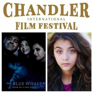 The short film The Blue Whale starring Jillian Susan Attiyah was chosen to show at the Chandler International Film Festival