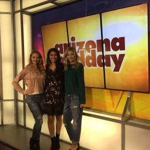 Three Barbizon Southwest models were featured on Arizona Midday for 12 News AZ in a fashion segment