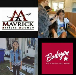 Victoria Anaya, Barbizon Socal alum, booked her first commercial - on set