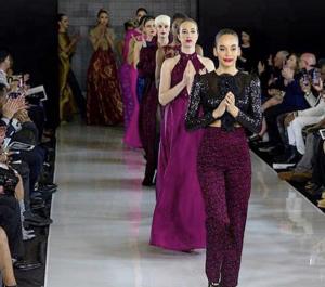 Wiliana Paredes, Barbizon Manhattan alum, walked in a runway fashion show