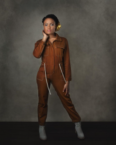 body shot of Chatayana Hicks-Dixon in jumpsuit